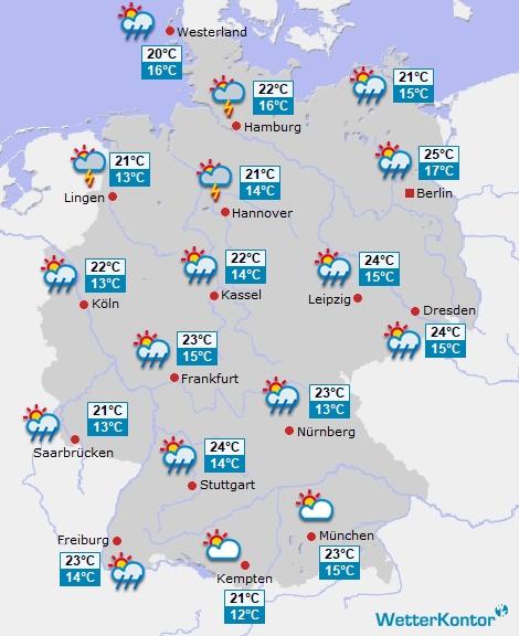актуальная погода в Германии