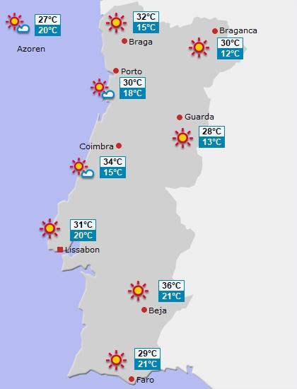 Bild vom Portugalwetter