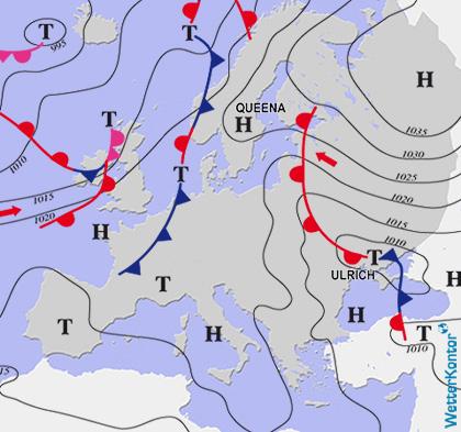 Aktuelle Wetterlage am 22.09.2017