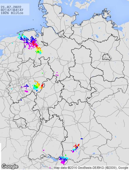 Blitze in Deutschland