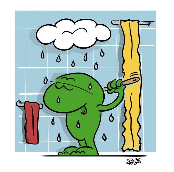 Wettercomic - Dusche