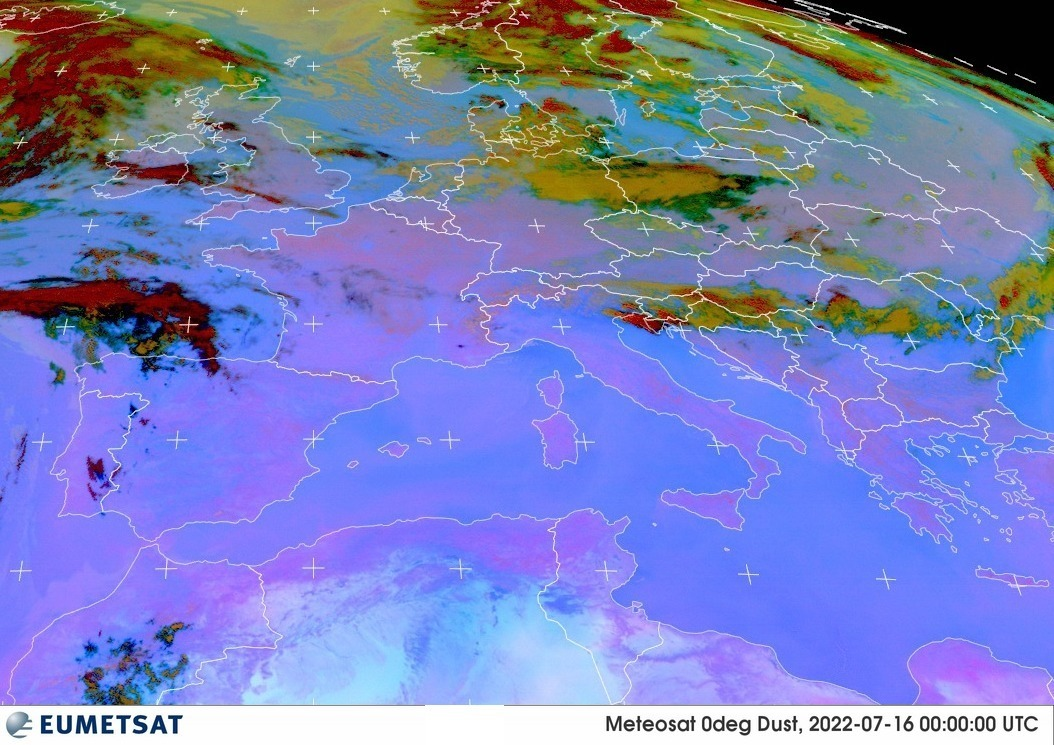 Satellitenbild Europa
