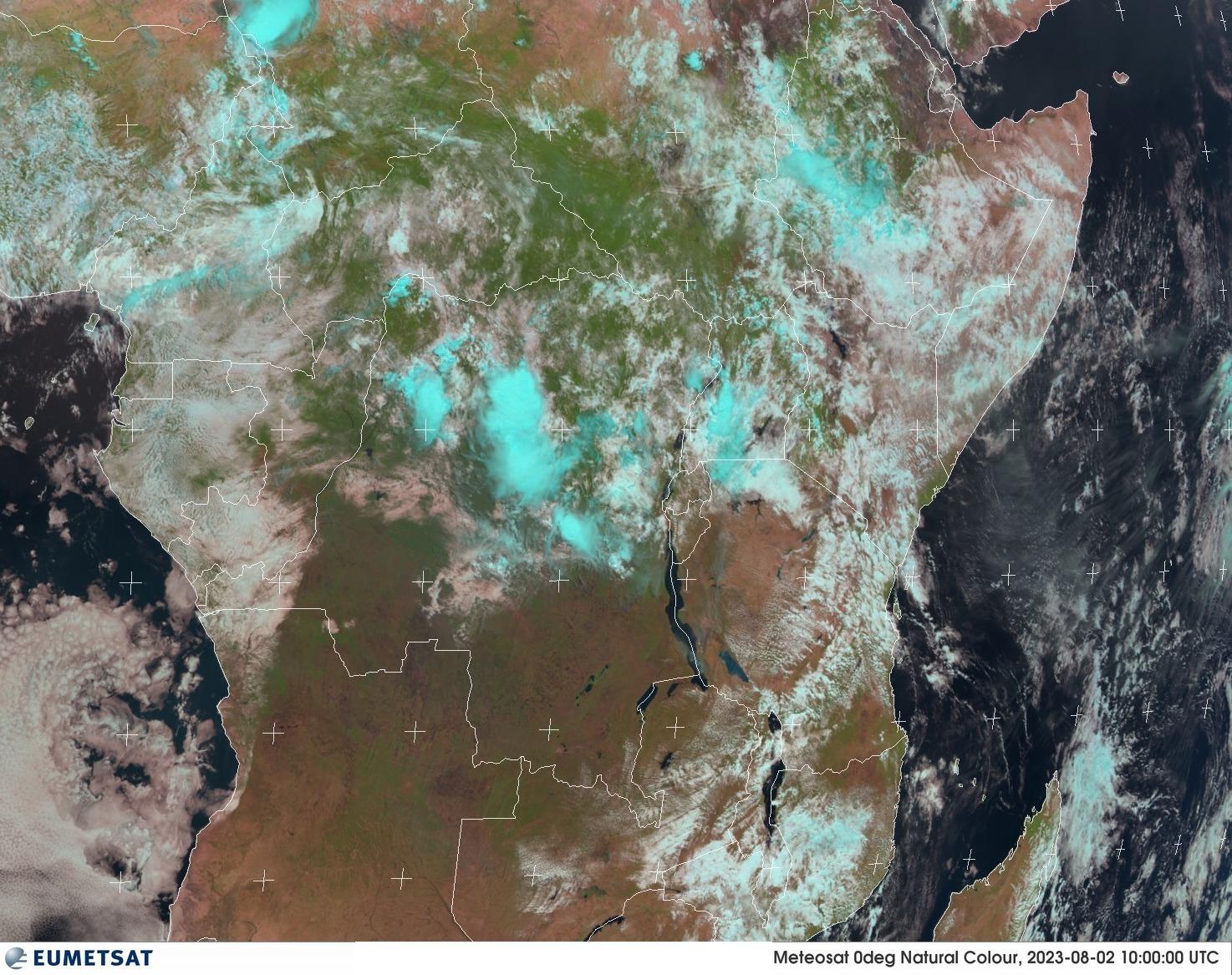 Satellitenbild Zentralafrika