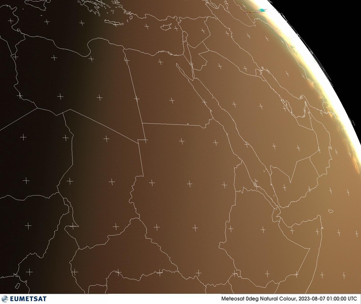 Satellitenbild Ostafrika