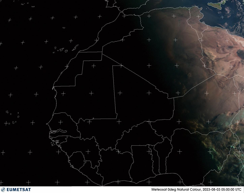 Satellitenbild Westafrika