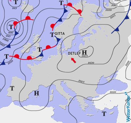 Aktuelle Wetterlage am 06.08.2020
