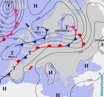 Aktuelle Wetterlage am 22.10.2020