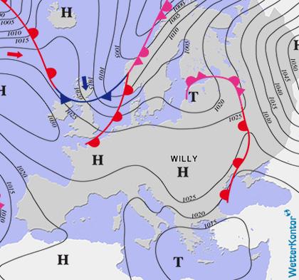 Aktuelle Wetterlage am 30.11.2020