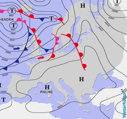Aktuelle Wetterlage am 19.10.2021